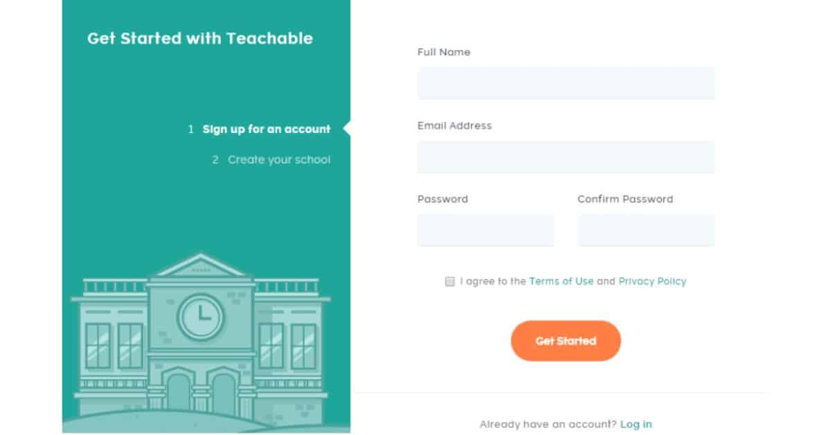 Teachable - Create an Account