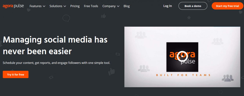 Agorapulse Homepage