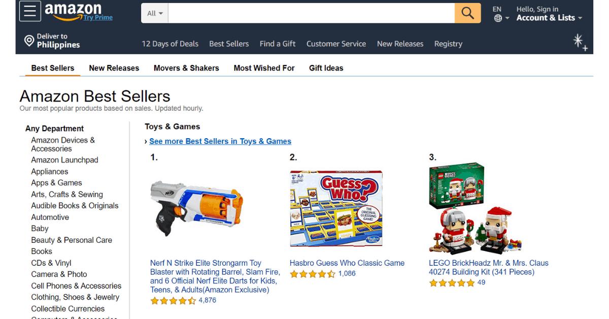 Amazon - I migliori venditori