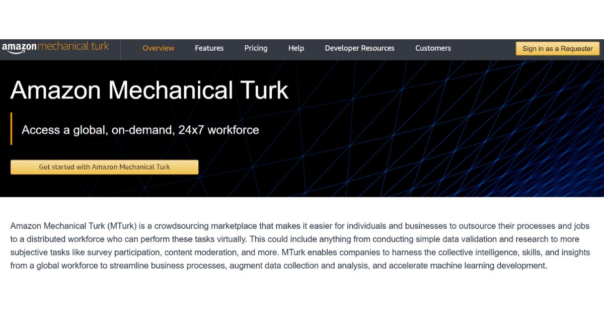 Amazon Mechanical Turk - Guadagna con il sider