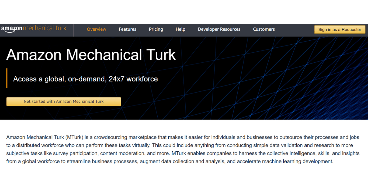 Amazon Mechanical Turk - Make Money on the Sider