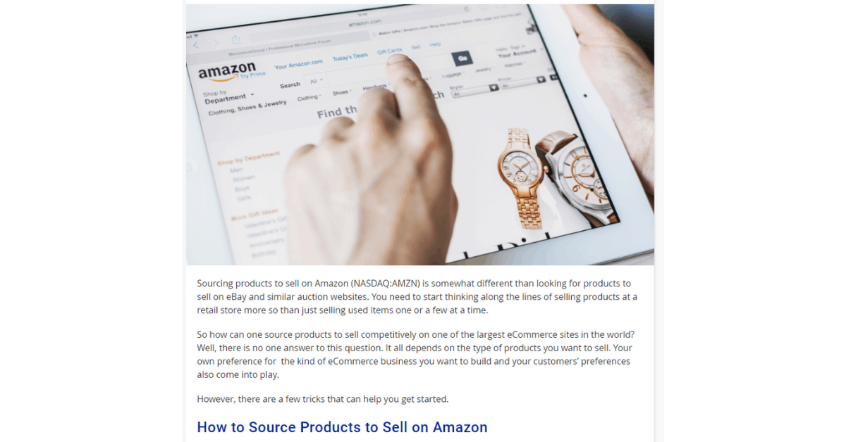Amazon - Strategie di prodotti di sourcing
