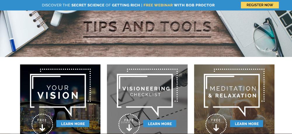 Bob Proctor tips tools