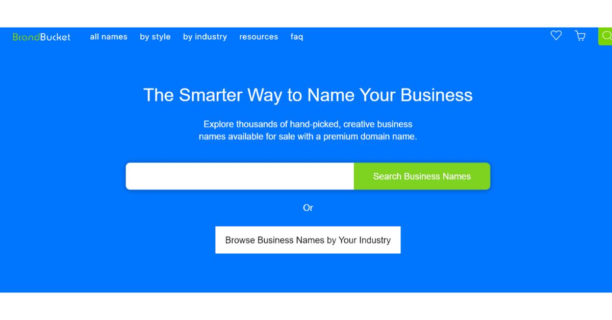Brandbucket - Businesss Name Generator