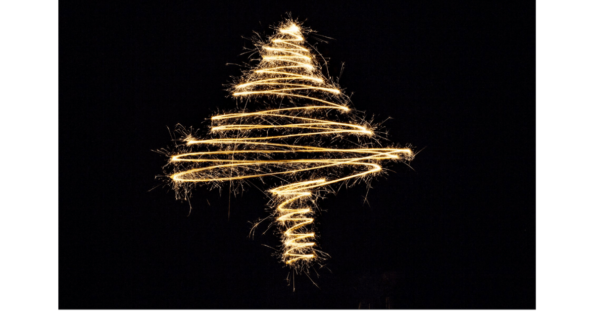 Stock Photo with christmas tree from Burst