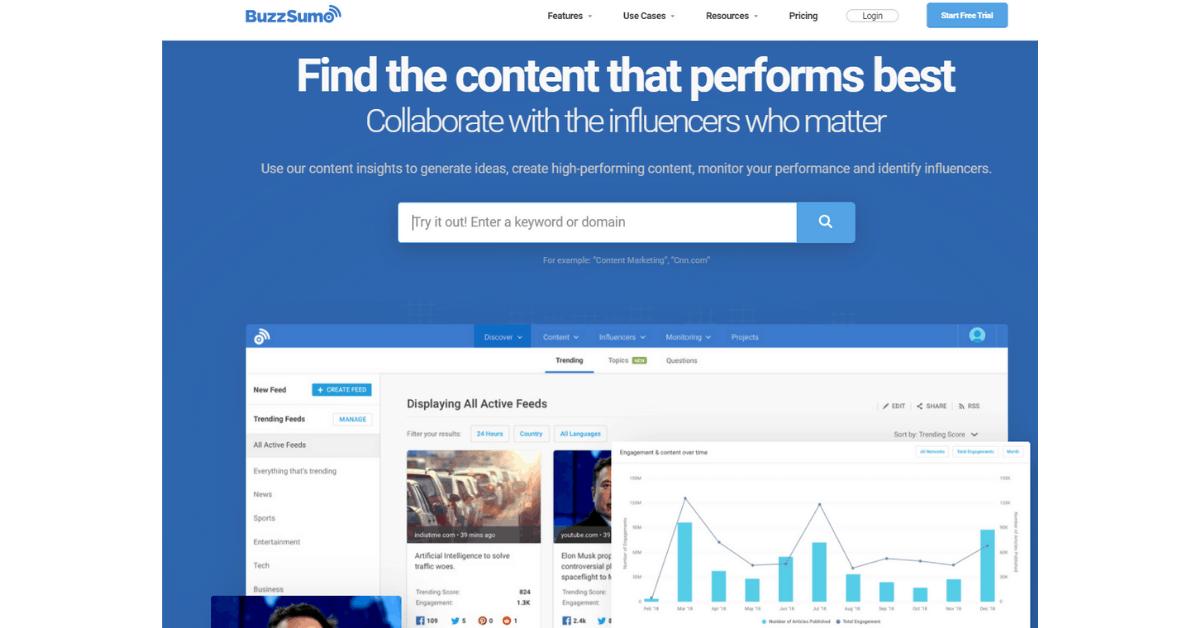 BuzzSumo - Get Blog Post Ideas