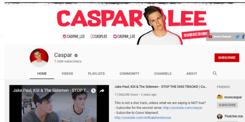 Casparlee-Youtube