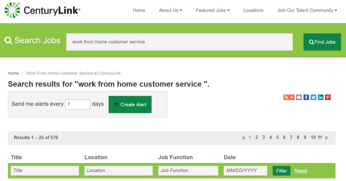 Centurylink- Where to get customer service job