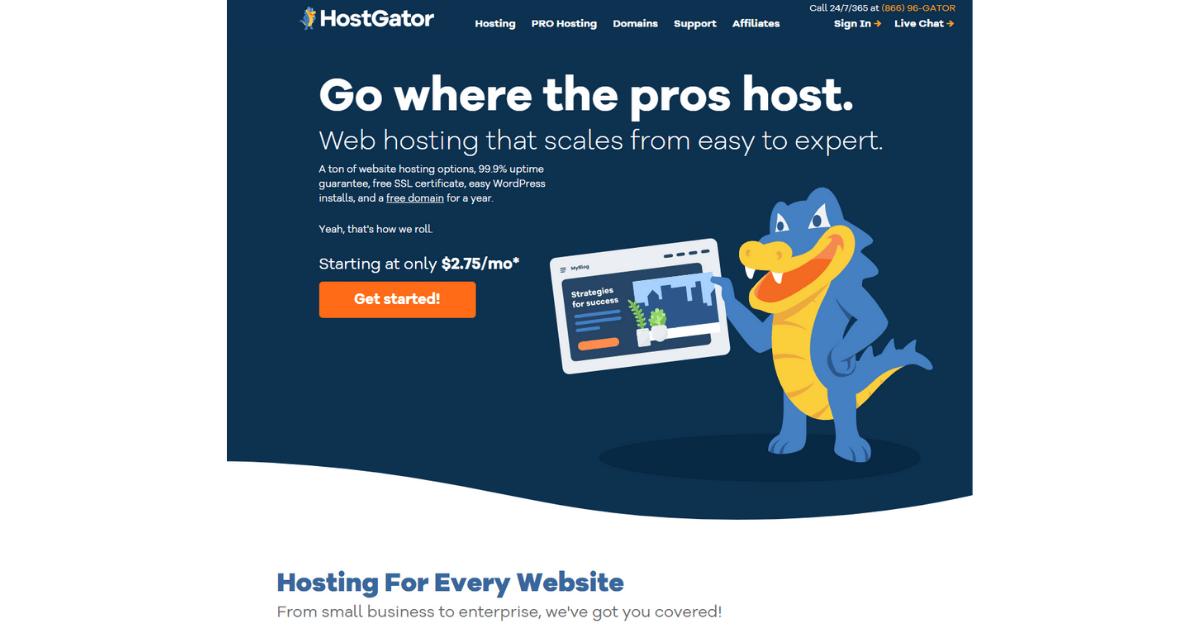 Choose Domain Name - Hostgator