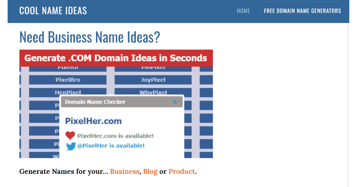 Cool Name Ideas