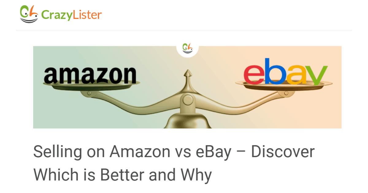 Crazy Lister - Amazon or Ebay