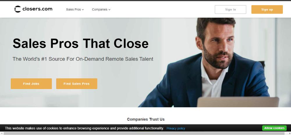 Closers.com Website