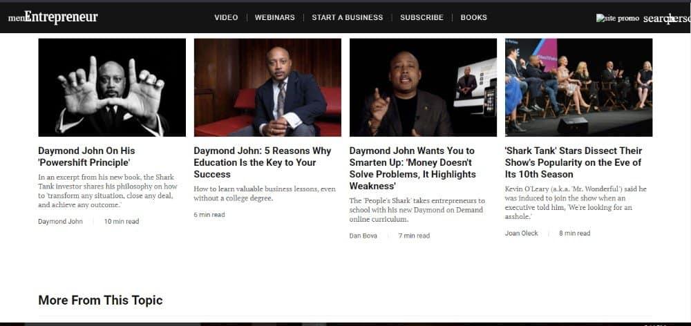 Daymond John on Entrepreneur