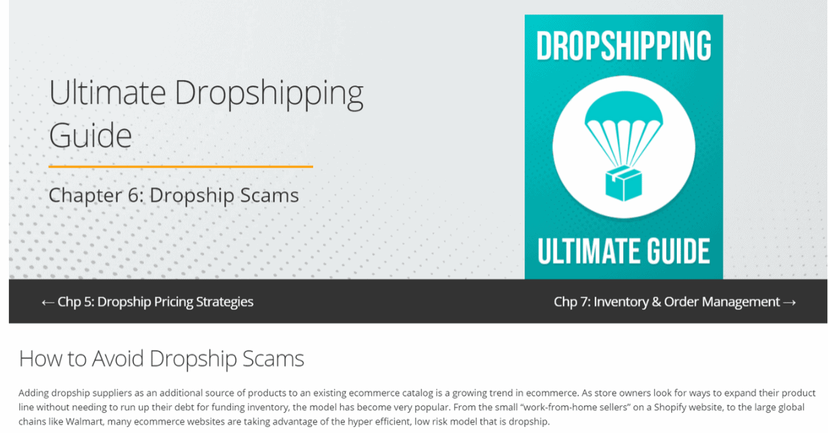 Dropshipping - Avoid Scams