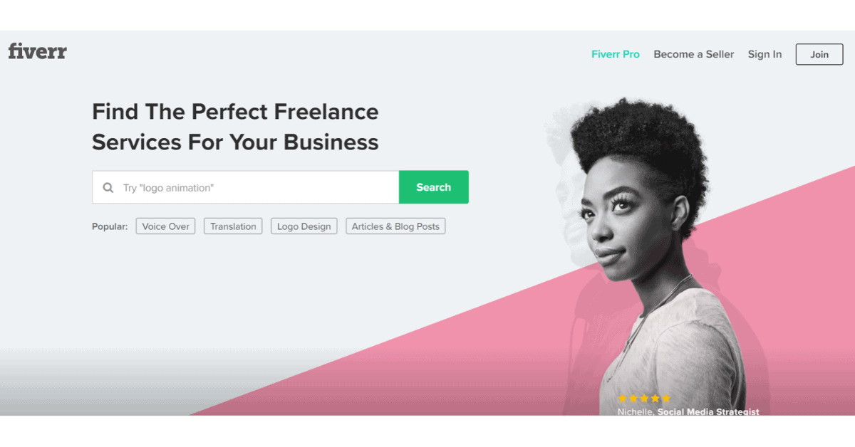 Fiverr - Trova i liberi professionisti perfetti