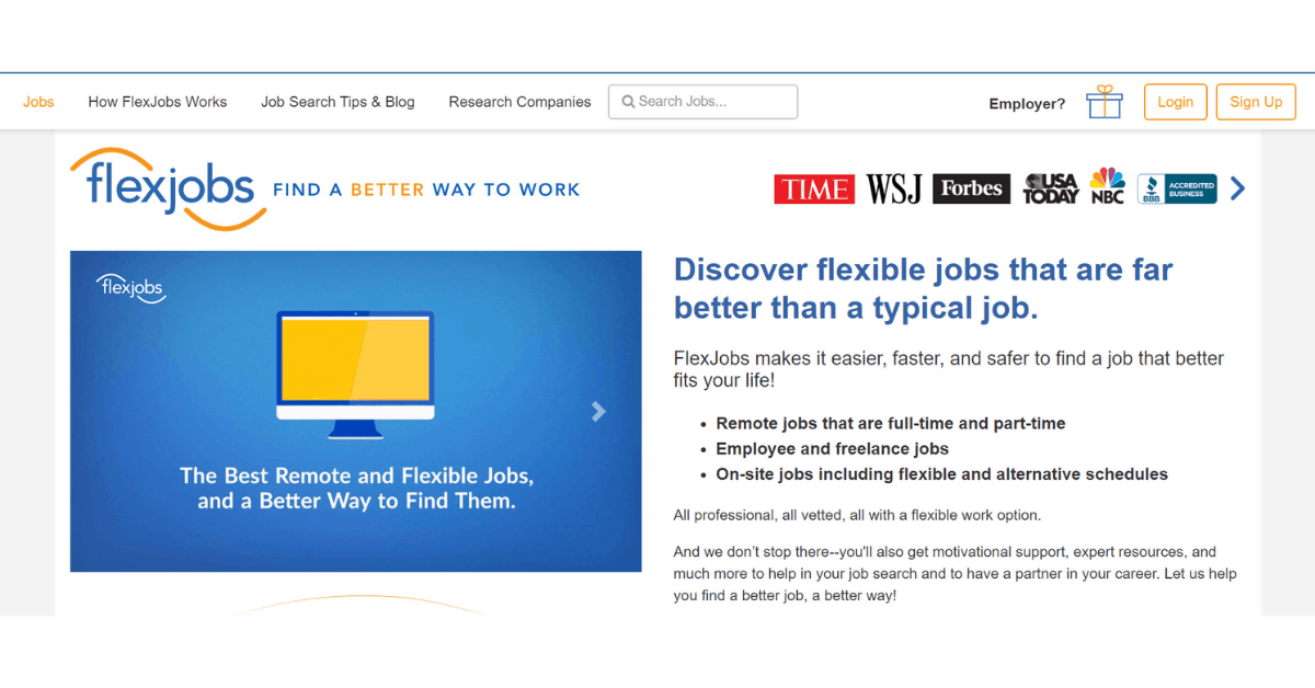 Flexjobs - Best Remote and Flexible Jobs