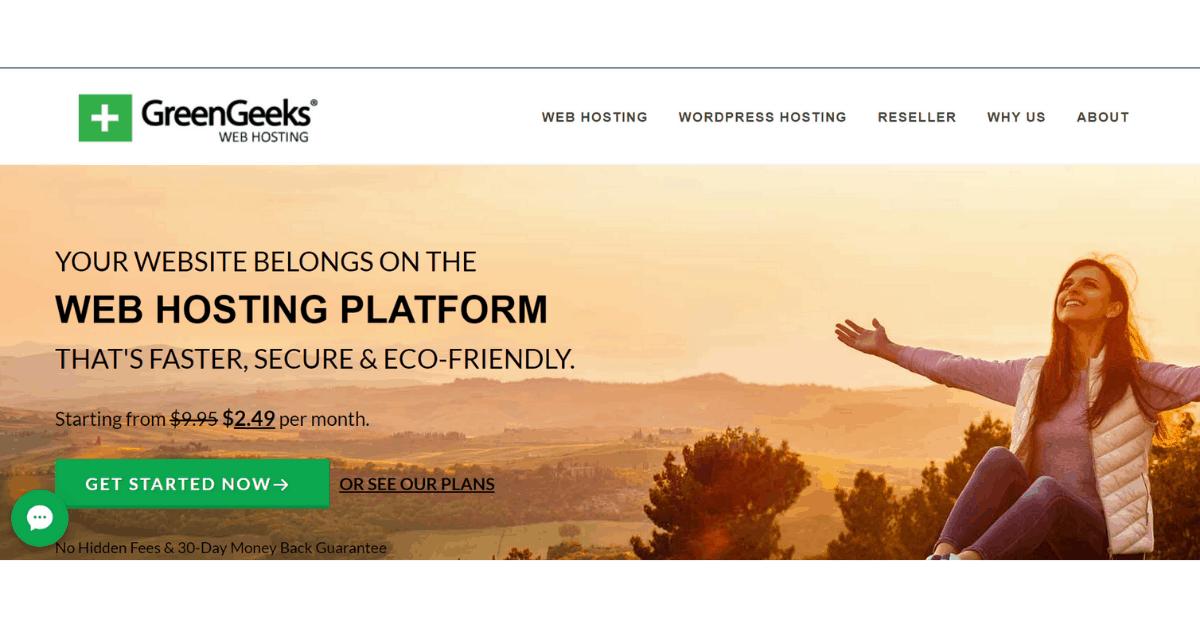 GreenGeeks - Website Hosting