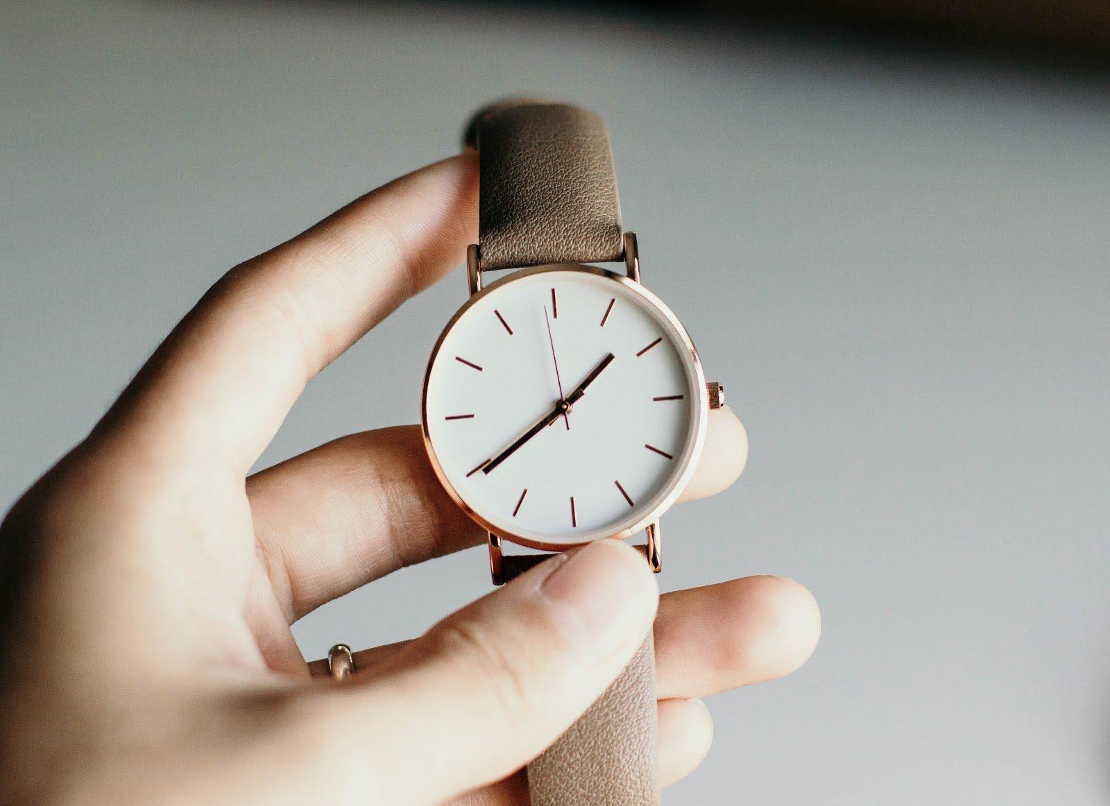 Hand Holding Wristwatch