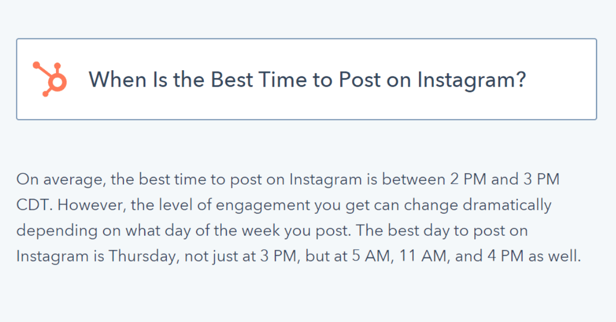 Instagram - Best Time to Post