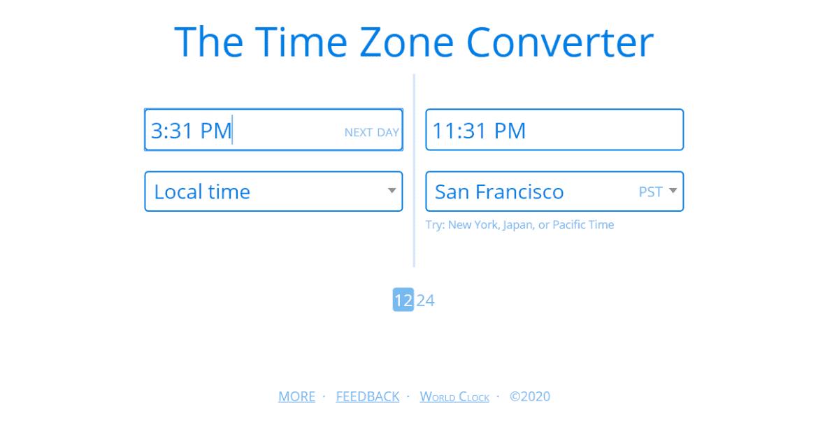 Instagram - Time Zone Converter