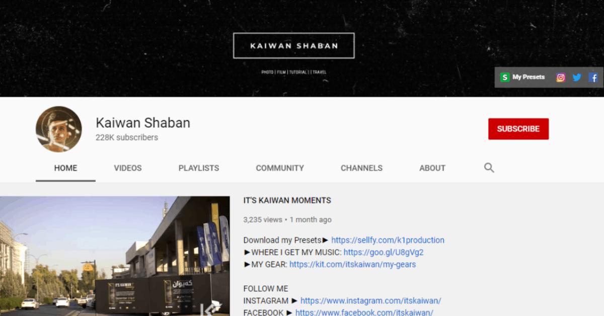 Kaiwan Shaban - Selling Photo Presets