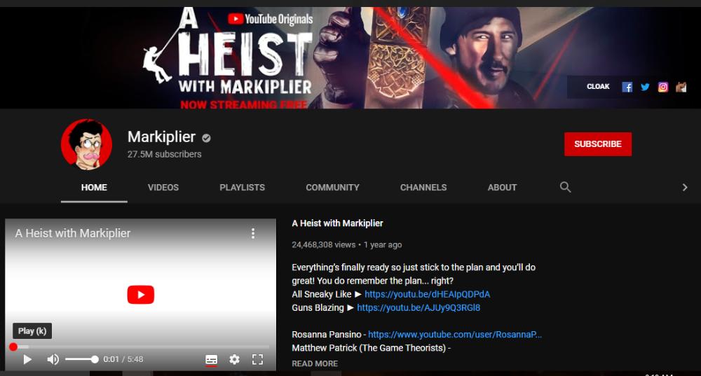 Markiplier YouTube 1