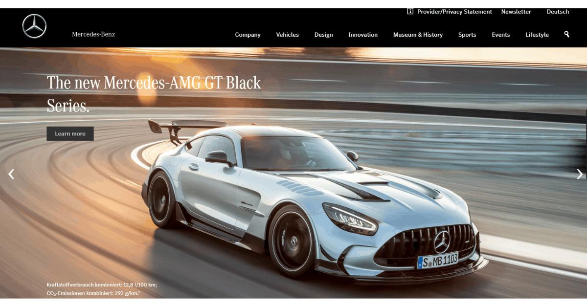 Mercedes-Benz - Use of Right Blogging Platform