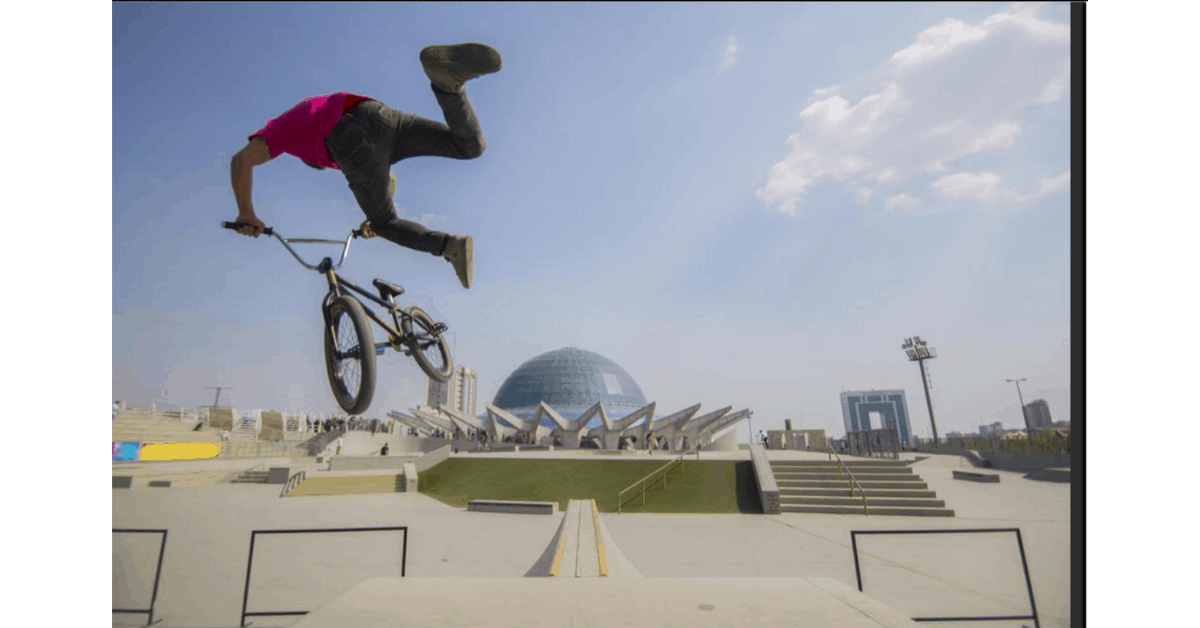 Photo of a BMX biker from Morguefile