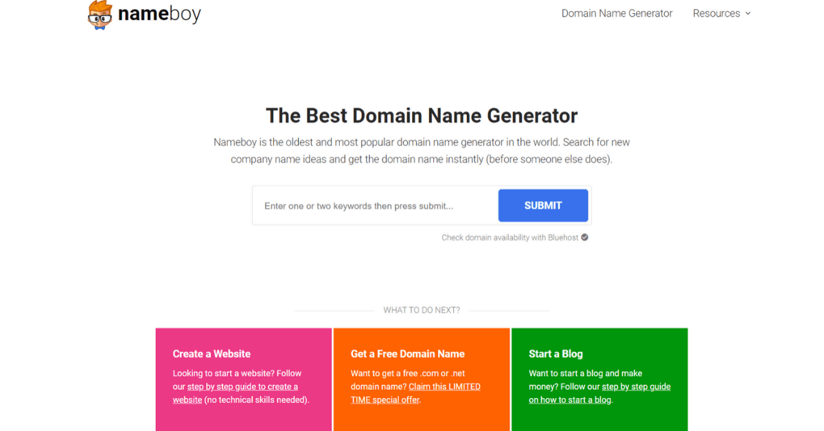 Name Boy - Domain Name Generator