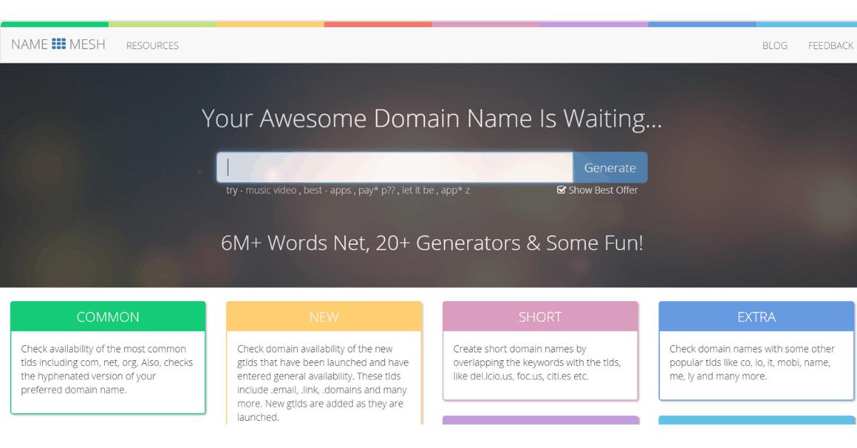Name Mesh - Domain Name Generator