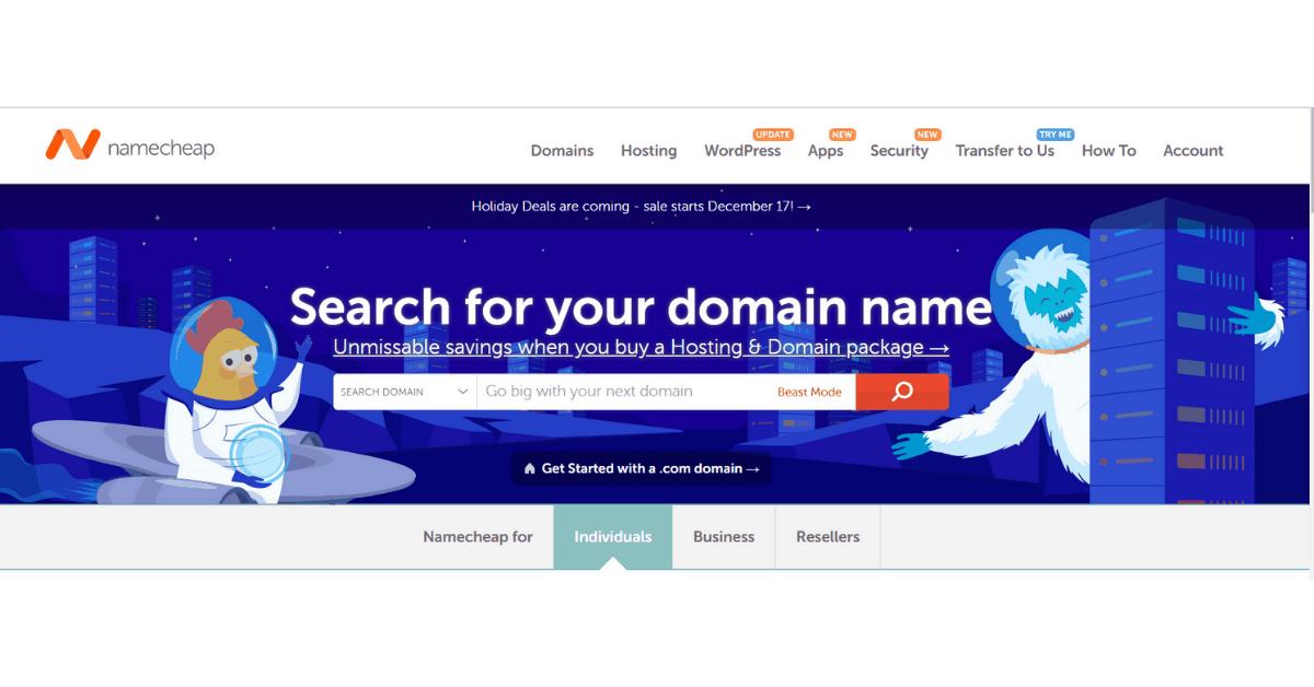 NameCheap - Hosting