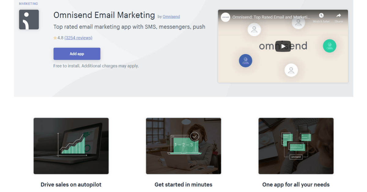 Omnisend - Shopify Subscription