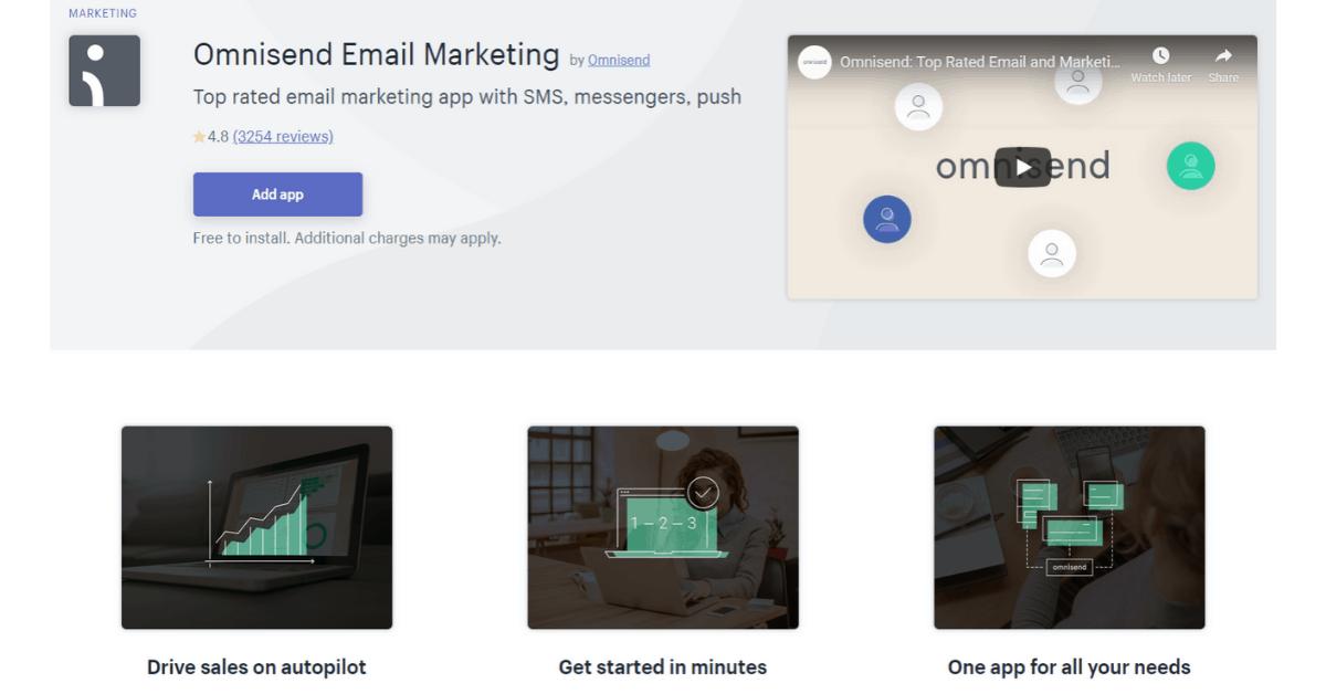 Omnisend - Abbonamento Shopify