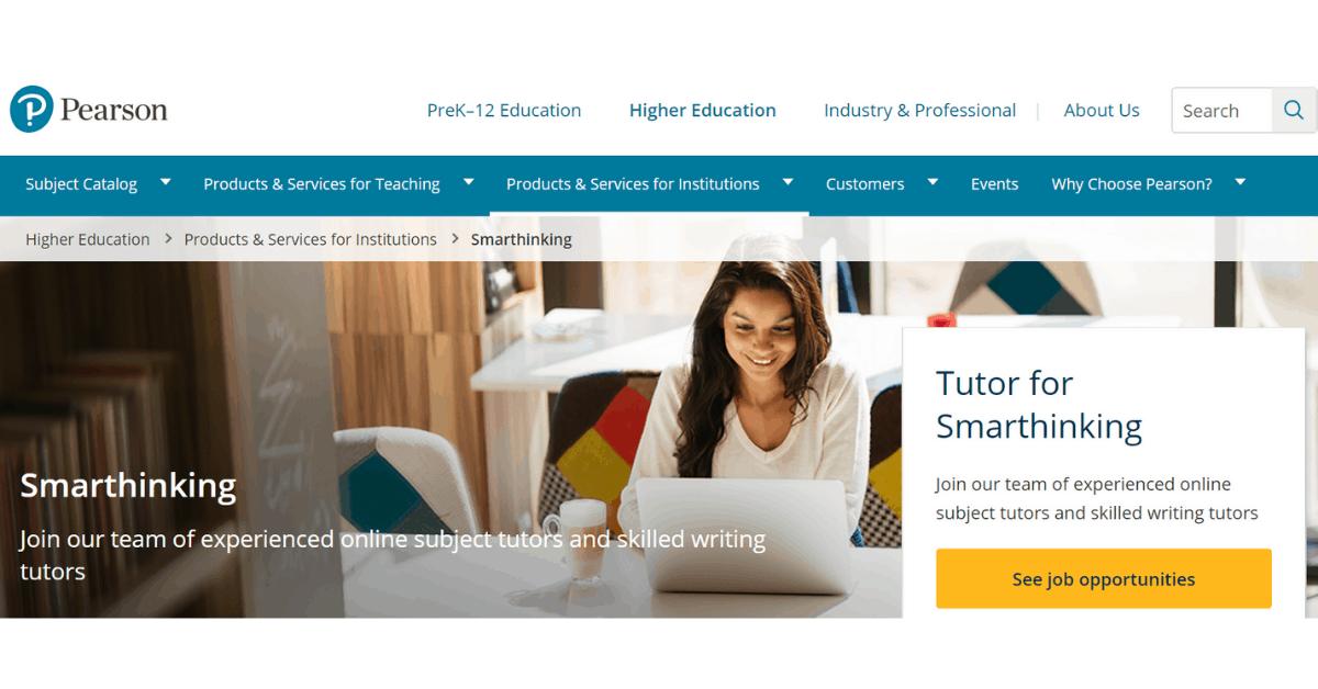 Pearson - Online Tutoring Jobs