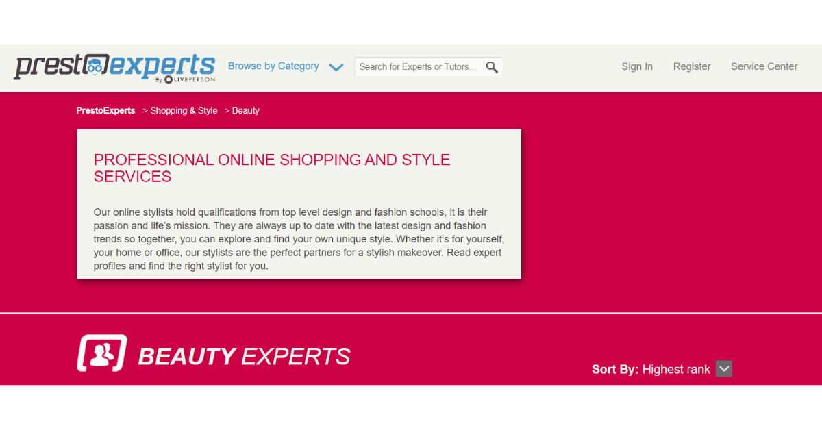 Presto Experts - Online Beauty Experts