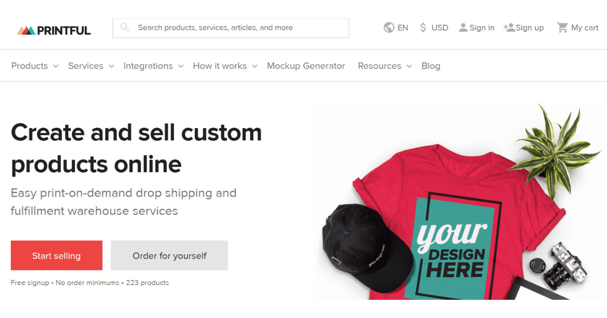 Printful - Dropshipping App