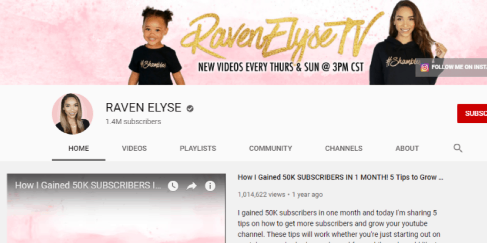 Raven Elyse-Youtube