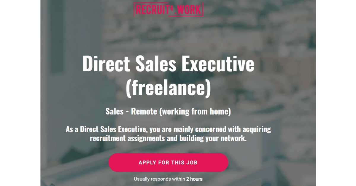 Recruit4work - Where to Get Direct Sales Consulting Job