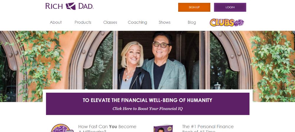 Rich Dad Homepage