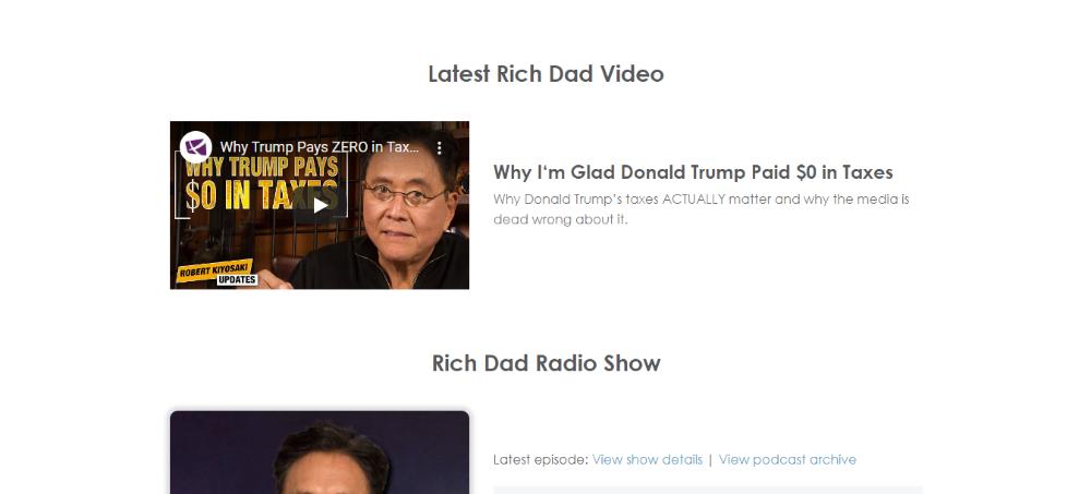 Robert Kiyosaki Rich Dad Video and Podcast