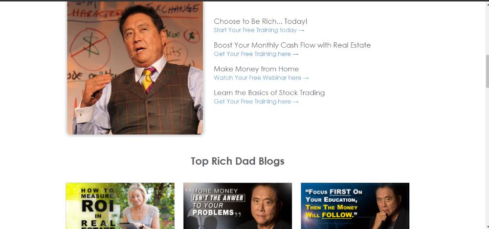 Robert Kiyosaki Rich Dad Content