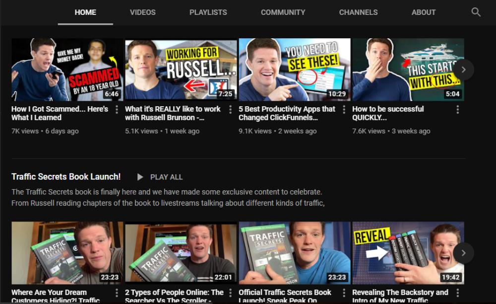 Russell Brunson YouTube