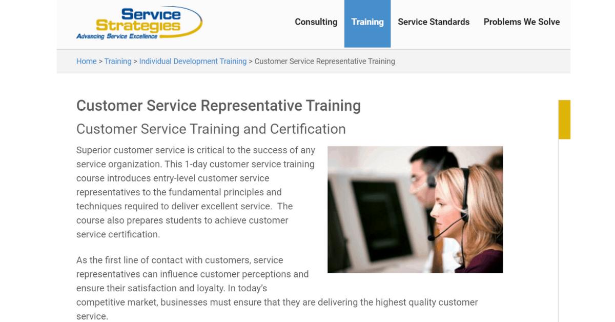 Service Strategies - Customer Service Representatives