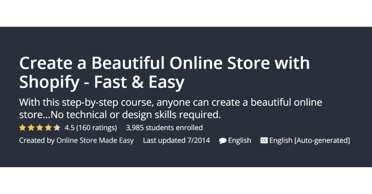 Shopify - Online Store