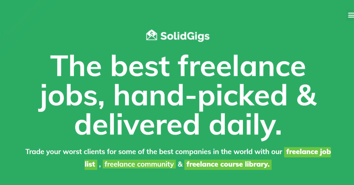 SolidGigs - Best Freelance Jobs