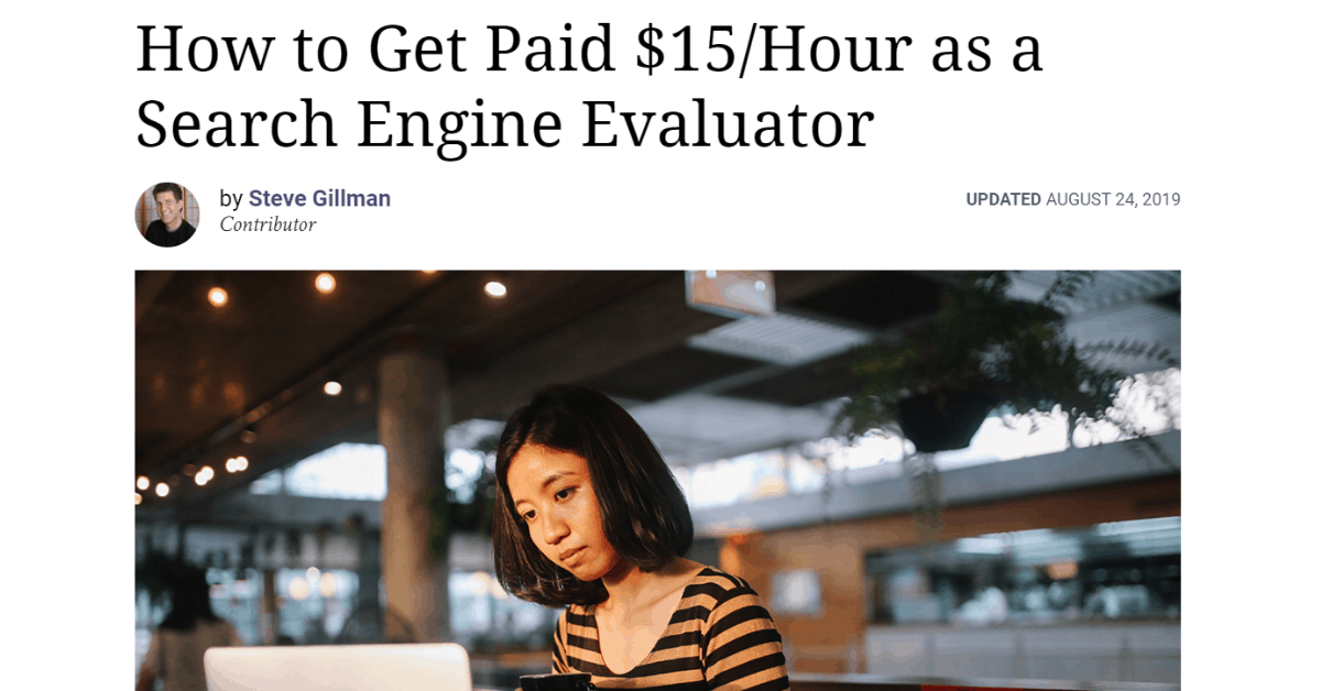 Steve - How Much Do Search Engine Evaluators Earn