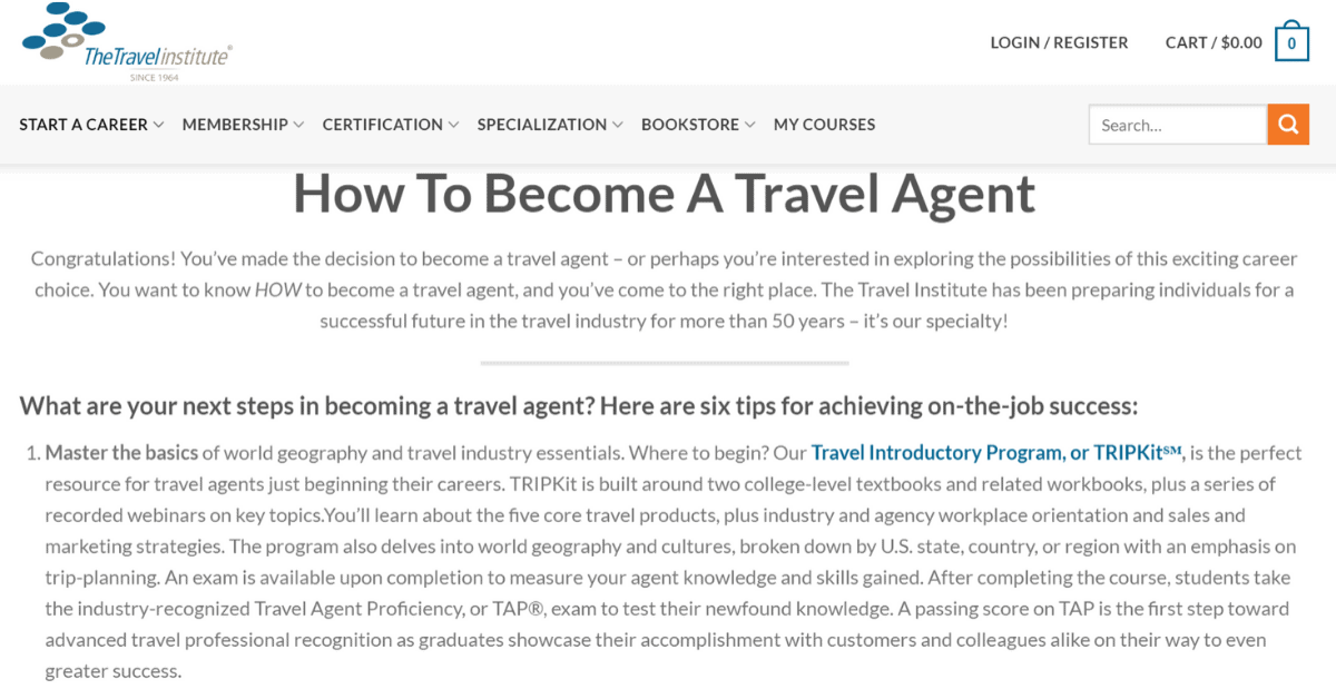 TheTravelInstitute - Skills Needed to Become Online Travel Agent