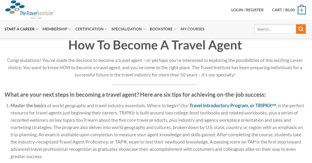 TheTravelInstitute - Competenze necessarie per diventare agente di viaggio online