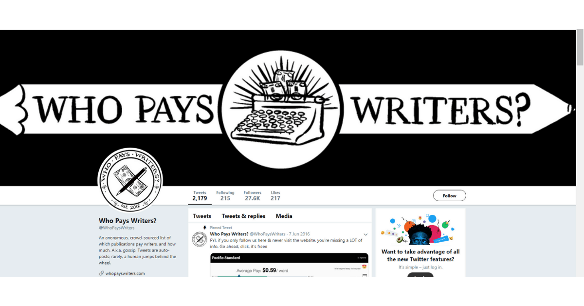 Twitter - Pay Writers
