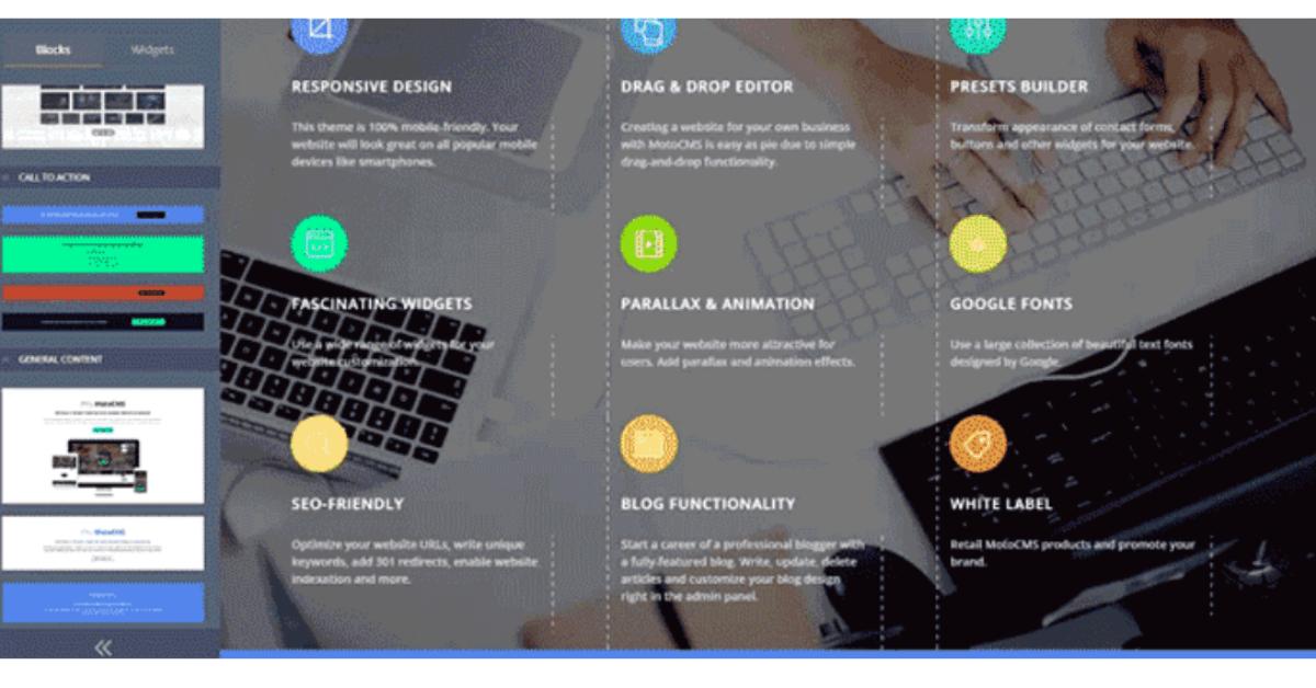 Ucraft - Blocks Feature